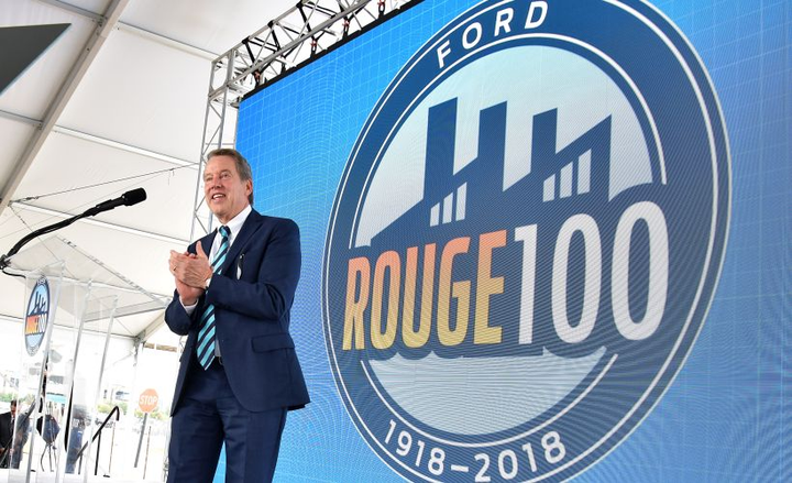Bill Ford took center stage at Ford's centennial of its Rouge assembly plant.  - Photo courtesy of Ford.