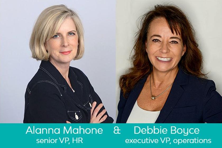 Allana Mahone, SVP of HR,and Debbie Boyce, EVP of operations