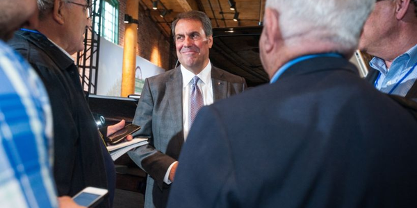 Mark Reuss (shown visiting GM's Flint factory in May 2018) has been named president and will...