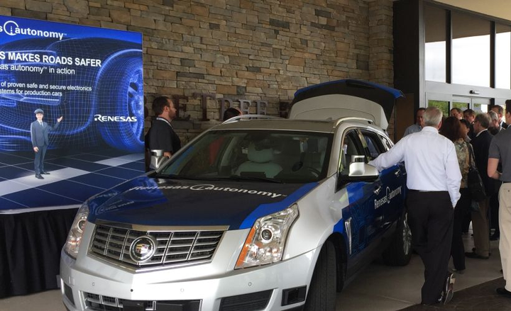 Attendees of the 2018 ADAS Sensors event participate in an in-car demo at the Michigan event.  - Photo courtesy of ADAS Sensors.