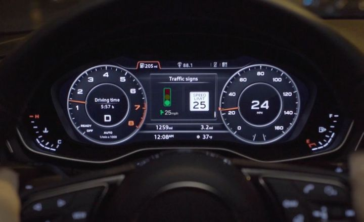 New connected-vehicle technology from Audi lets drivers know how fast to drive to make a green light down the road.