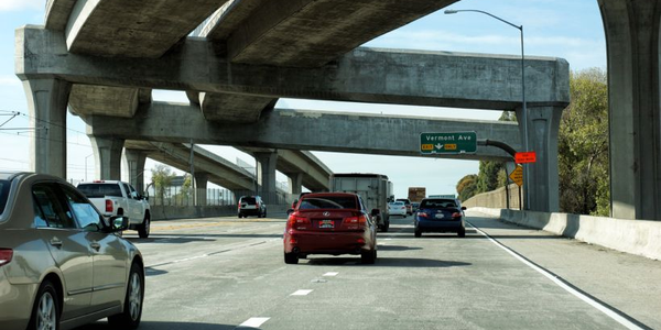 Seven states, including California (Interstate 105 shown), will receive federal transportation...