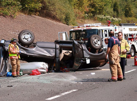 Six out of 10 drivers are taking photos of accident scenes and posting them on social media while driving.