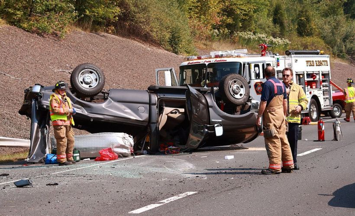 Six out of 10 drivers are taking photos of accident scenes and posting them on social media while driving.  - Photo via Ragesoss/Wikimedia.