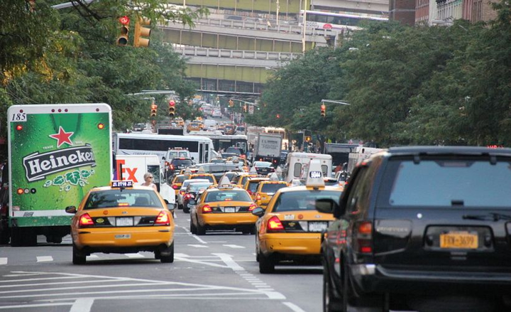 New York City plans to implement a toll in Manhattan, including 9th Avenue (shown), that would raise funding to improve its subway system.