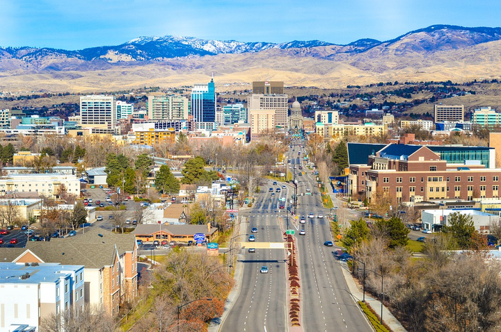 Boise, Idaho, ranks as America's safety driving city with population density part of the analysis.  - Photo via Pixabay.