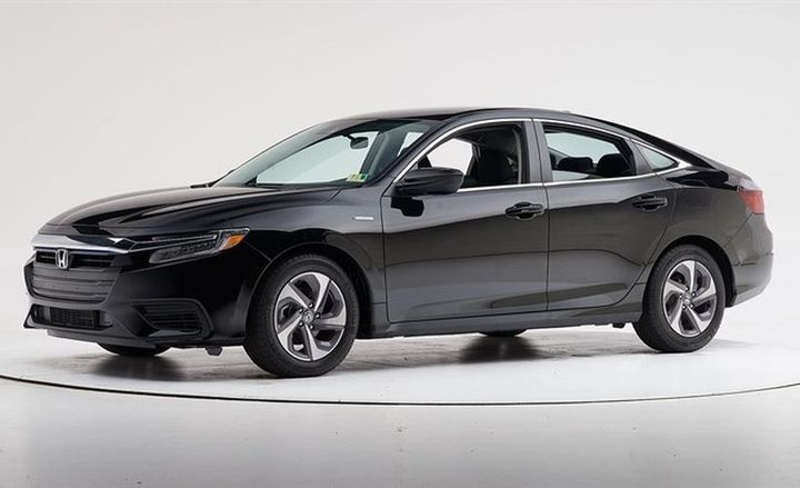The 2019 Honda Insight (shown) and Pilot earned Top Safety Pick+ awards after IIHS crash testing.