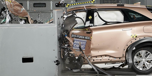 Hyundai's 2019 Nexo fuel cell SUV aced six crash tests.
