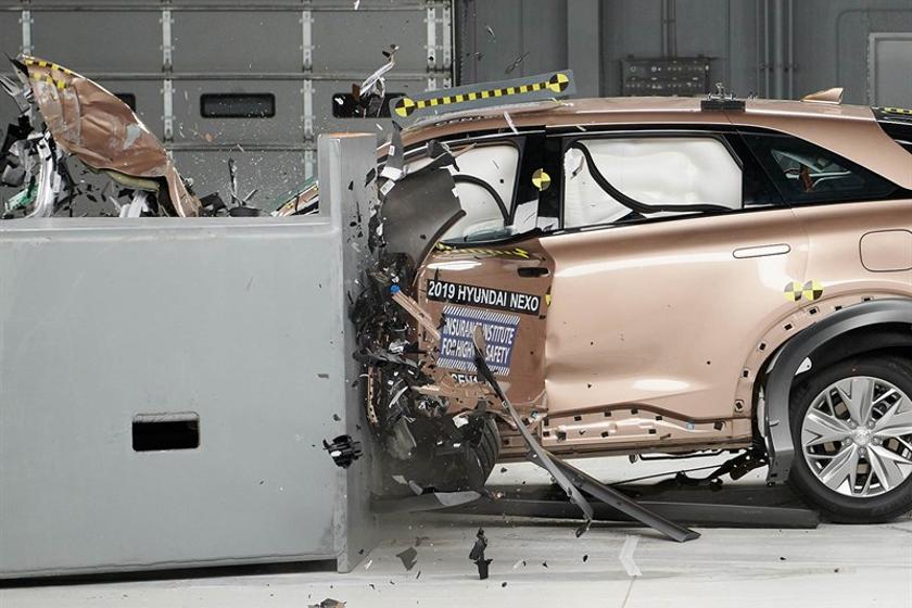 Hyundai's 2019 Nexo fuel cell SUV aced six crash tests.