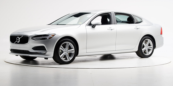 Volvo's 2019 S90 has earned a Top Safety Pick from the Insurance Institute of Highway Safety.