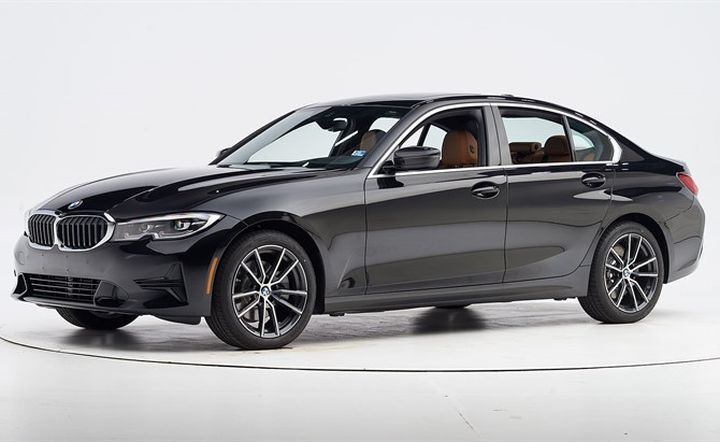 BMW's seventh-generation2019 3 Series sedan has earned a Top Safety Pick+ when equipped with certain headlights.  - Photo courtesy of IIHS.