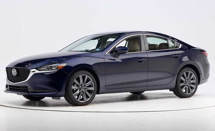 The 2019 Mazda Mazda6 is an IIHS Top Safety Pick when equipped with specific headlights.  - Photo courtesy of IIHS.