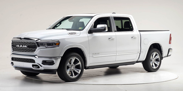The 2019 and 2020 Ram 1500 is the first large pickup to earn a Top Safety Pick+ from the IIHS.