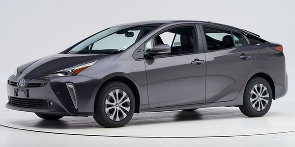 Toyota's 2019 Prius (shown) and Prius Prime have been named a Top Safety Pick by the Insurance...