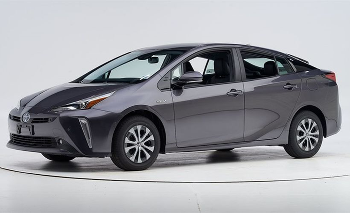 Toyota's 2019 Prius (shown) and Prius Prime have been named a Top Safety Pick by the Insurance Institute for Highway Safety.