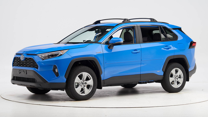Toyota's 2019 RAV4 has earned a Top Safety Pick+ when equipped with curve-adaptive headlights.  - Photo courtesy of IIHS.