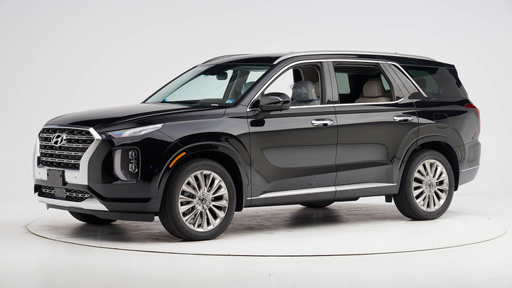 The 2020 Palisade has earned an IIHS Top Safety Pick+ when equipped with the upgraded headlights.  - Photo courtesy of IIHS.
