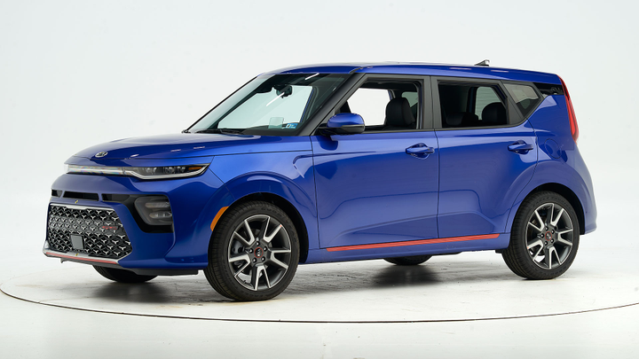 The 2020 Kia Soul earns a Top Safety Pick+ when equipped with front crash protection and specific headlights.  - Photo courtesy of IIHS.