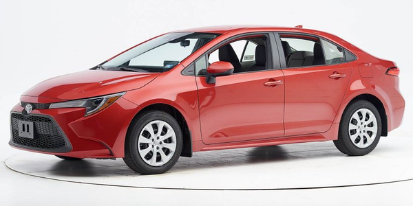 The IIHS has given the 2020 Toyota Corolla its Top Safety Pick, when the sedan is equiped with...