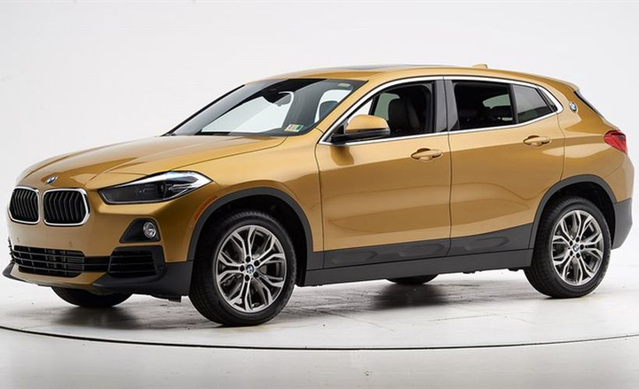 BMW's 2018 X2 improved itshead restraints to earn an IIHS Top Safety Pick award.  - Photo courtesy of IIHS.