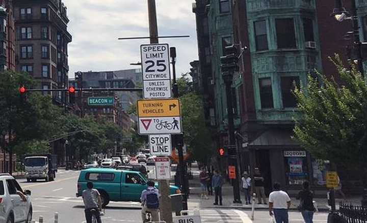Excessive speeding has declined significantly in Boston after the city lowered the speed limit to 25 mph from 30 mph.  - Photo courtesy of IIHS.