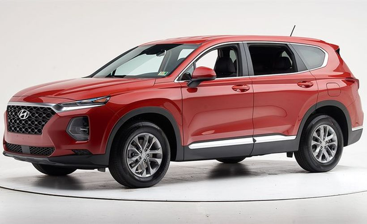 The 2019 Hyundai Santa Fe hasbeen named a Top Safety Pick+ by the Insurance Institute for Highway Safety.  - Photo courtesy of IIHS.