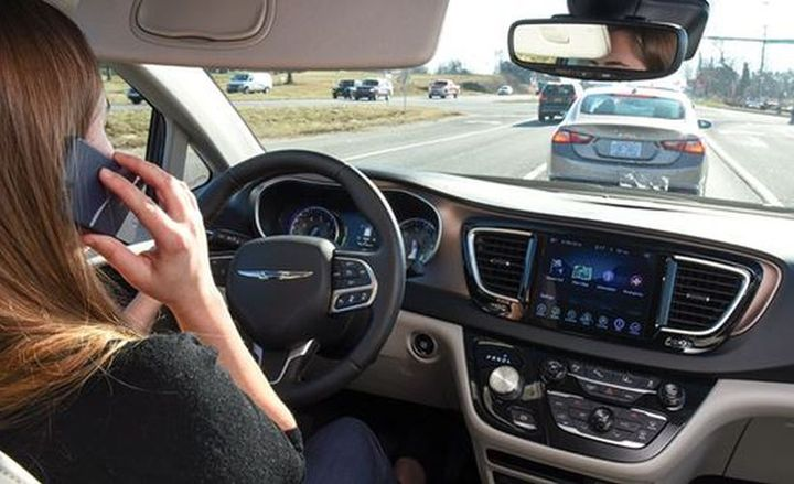 Three in 10 motorists acknowledged that they talked on their phone while driving on a daily basis in a new survey from the Insurance Institute for Highway Safety.