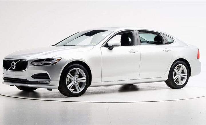 Volvo's S90 sedan (shown)and XC90 midsize SUV mave earned Top Safety Pick awards from IIHS.  - Photo courtesy of IIHS.