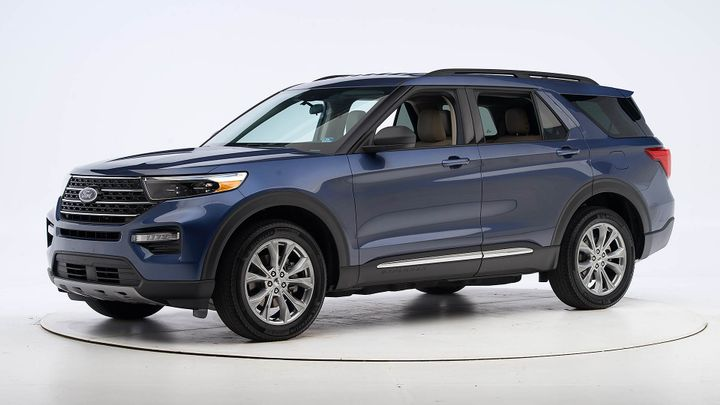 Ford's 2020 Explorer midsize SUV just missed a Top Safety Pick award from the IIHS. - Photo courtesy of IIHS.