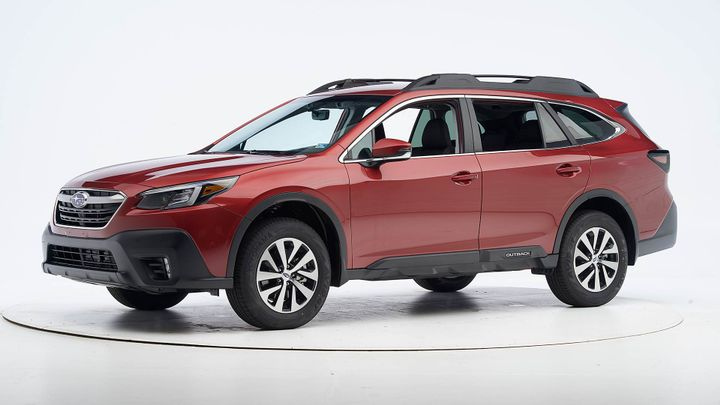 The 2020 Outback earned a Top Safety Pick and missed the top tier due to its headlights. - Photo courtesy of IIHS.