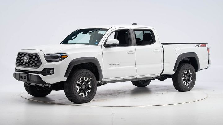 Toyota's 2020 Tacoma Double Cab has earned a Top Safety Pick from the Insurance Institute for Highway Safety. - Photo courtesy of IIHS.