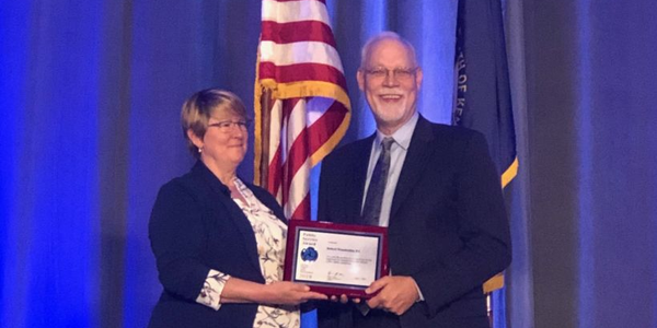 Robert Wunderlich, shown here with NHTSA's Deputy Administrator Heidi King, has earned...