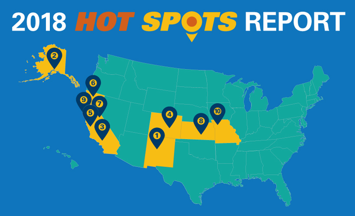 "Albuquerque, New Mexico, has lowered vehicle thefts since 2016, but still remains a ""hot spot,"" according to the NICB.