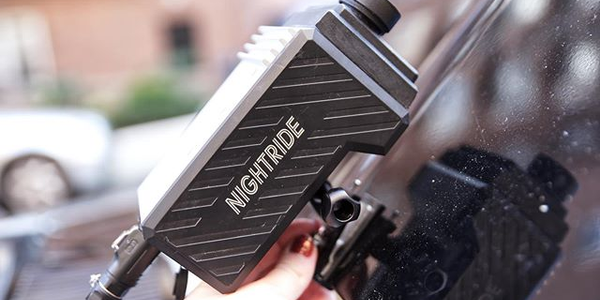 Wesa's Nightride thermal imaging camera system provides greater visibility for night driving.