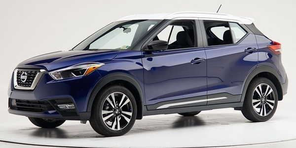 The 2018 Nissan Kicks has been named a Top Safety Pick by the Insurance Institute for Highway...