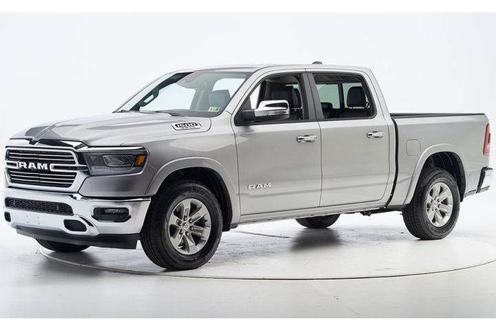 The 2019 Ram 1500 improved its safety ratings in IIHS crash-testing.  - Photo courtesy of IIHS.
