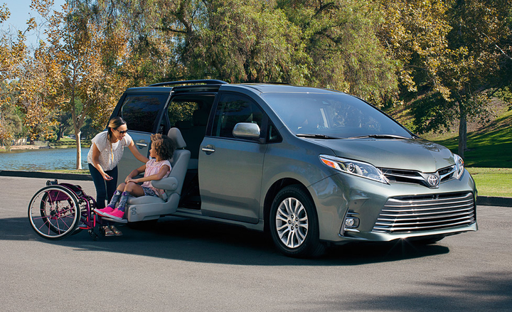 Braun Corp. is recalling its converted Toyota Sienna paratransit vans for a possible issue with the braking system.  - Photo courtesy of Toyota Mobility.