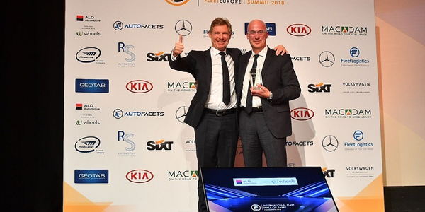 Simon Dransfield (right), general manager, fleet and business Europe, Jaguar Land Rover, was...
