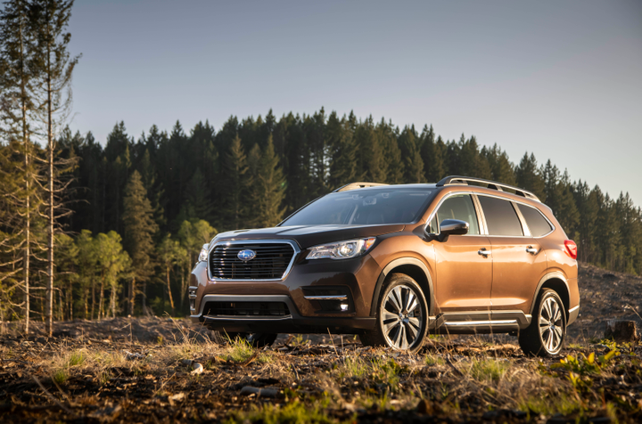 Subaru's EyeSight frontal crash prevention system significantly reduced insurance claims involving pedestrians compared to similar vehicles without the system. The 2019 Ascent (shown) includes the system as standard equipment.