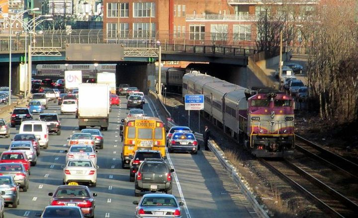 The speed of Geotab-equipped vehicles fell the most (40%) during peak rush hour among the 20 most-populated U.S. cities.  - Photo via Pi.1415926535/Wikimedia.