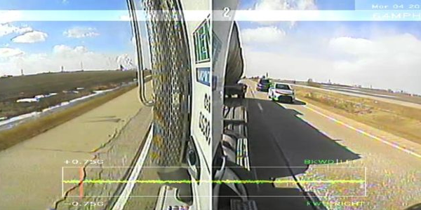 NetraDyne's VisionPRO camera offers eight views so fleet managers can see the side and rear of a...