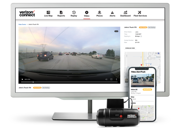 Verizon Connect has been offering its Integrated Video bundle so fleets canimprove driver safety.  - Photo courtesy of Verizon Connect.