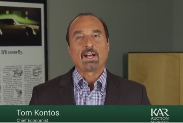 Screenshot of Tom Kontos, chief economist, courtesy of KAR Auction Services.