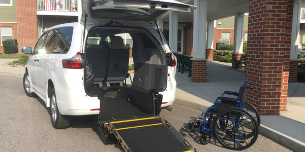 Driverge offer wheelchair-accesible minivans, including this modified Toyota Sienna.