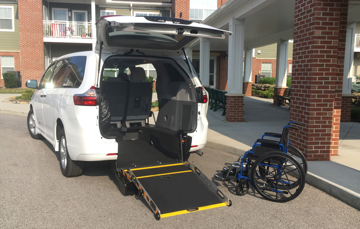 Driverge offer wheelchair-accesible minivans, including this modified Toyota Sienna.  - Photo courtesy of Driverge.