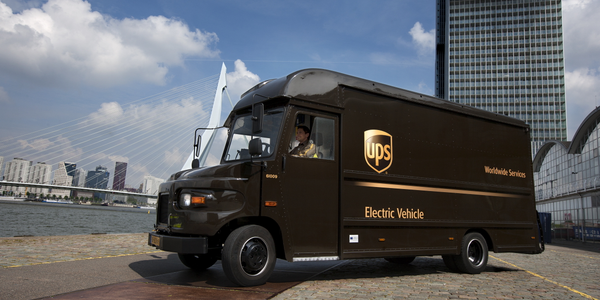 UPS is already operating electric vehicles as part of its large alternative fuels fleet. Photo:...