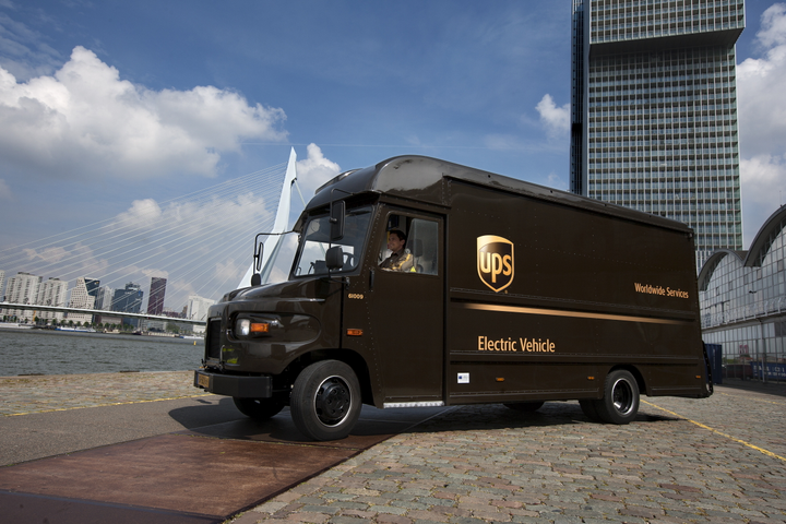 UPS is already operating electric vehicles as part of its large alternative fuels fleet. Photo: UPS