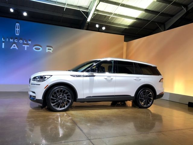 Lincoln unveiled its 2020 Aviator three-row midsize SUV that will arrive in the summer just under the Navigator in the lineup.  - Photo by Paul Clinton.