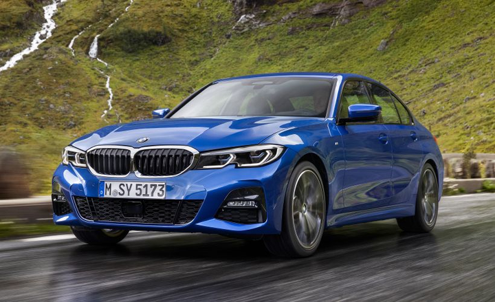 BMW's seventh-generation 2019 3 Series (European version shown) arrives in March with updates that include boosted power, an 8-speed transmission, and advanced driver-assisting tech.