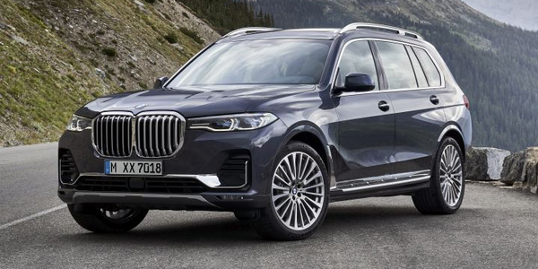 BMW's 2019 X7 arrives in March as the first three-row SUV from BMW.